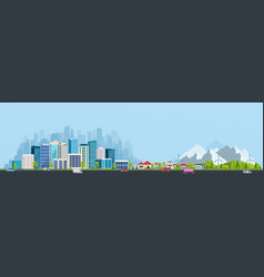 urban landscape with large modern buildings vector image