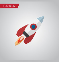 isolated rocket flat icon spaceship vector image