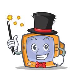 magician tv character cartoon object vector image vector image