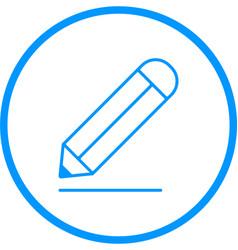 pencil line icon vector image vector image