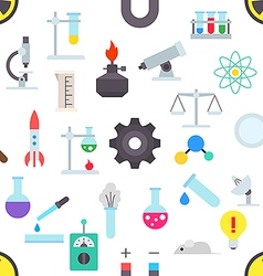 Science pattern stickers vector image vector image