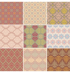 set of seamless background vector image