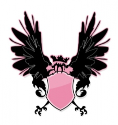 shield with bird vector image vector image