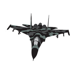 camouflaged aircraft vector image vector image