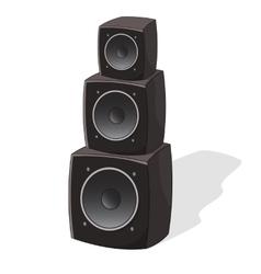 Cartoon powerful speakers vector image vector image