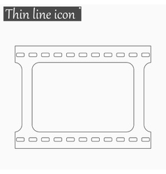 film strip Style thin line vector image