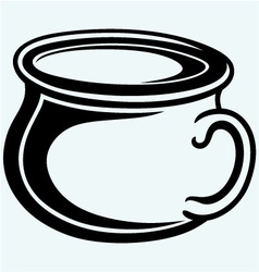 Gutbucket pot vector image vector image