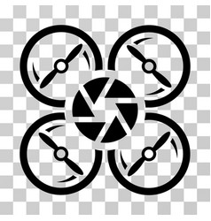 shutter drone icon vector image vector image