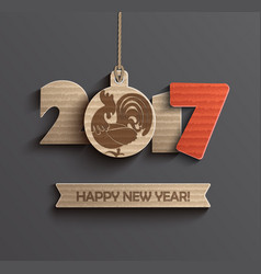 symbol for happy new year 2017 vector image vector image
