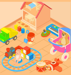 toys room concept cartoon style vector image