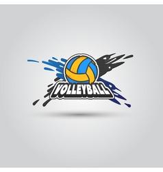 Ball symbol Volleyball Logo Badge Sport emblem vector image vector image