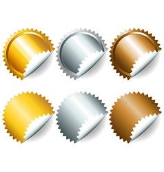 Games medals or labels-set2 vector image vector image
