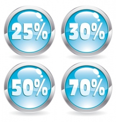 set sale button vector image vector image