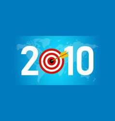 2010 new year business international goals target vector image
