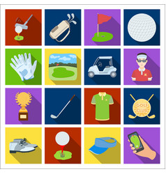 a golfer a ball a club and other golf attributes vector image