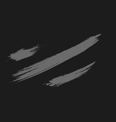 Abstract grey brush texture on dark vector