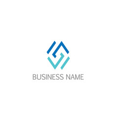 abstract line geometry business logo vector image