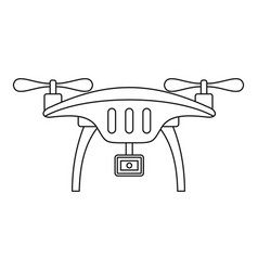 action camera drone icon outline style vector image
