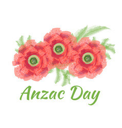 anzac day of a bright poppy vector image