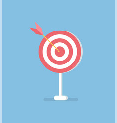 arrow in target isolated accuracy concept vector image