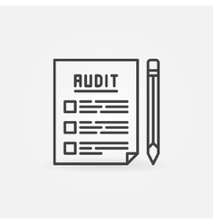 Audit documents outline icon vector