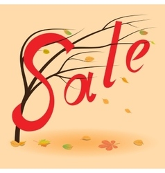 Autumn sale background Fall sale event vector image
