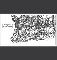 Balikpapan indonesia city map in black and white vector