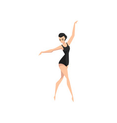 Ballet dancer young professional ballerina vector