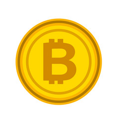 bitcoin currency money virtual technology business vector image
