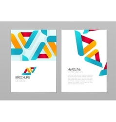 Brochure flyer design template with vector image
