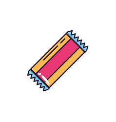 Bubble gum sweet and candies icon line fill vector