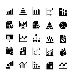 business charts and diagrams solid icons 1 vector image