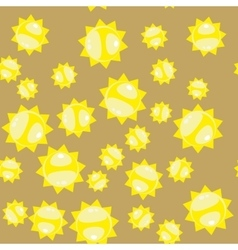 Cartoon sun seamless pattern 628 vector image