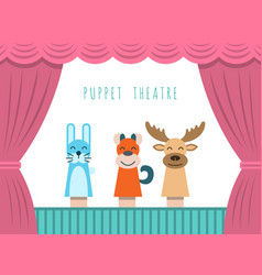 children puppet theatre vector image