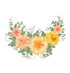 Chrysanthemum garland vector