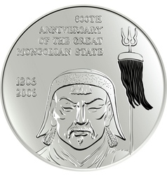 Commemorative coin vector