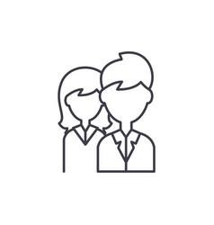 company staff line icon concept company staff vector image