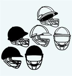 Cricket helmet vector image