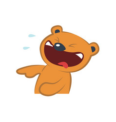 cute bear laughing vector image