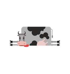 Dead cow farm animal dead corpse cattle vector