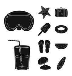 Design of equipment and swimming logo vector