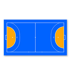 Detailed of a handball field cort eps10 field top vector
