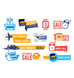 discount badges advertizing promo offers last vector image