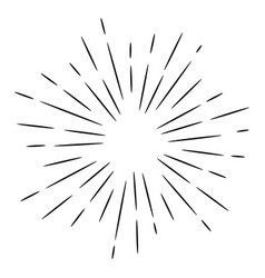 doodle design element sunburst hand drawn vector image