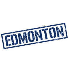 Edmonton blue square stamp vector