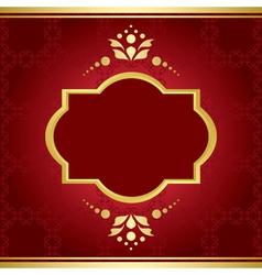 elegant card with golden decor vector image