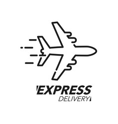 express delivery icon concept plane speed icon vector image