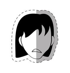 Female faceless avatar image vector