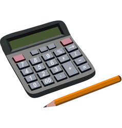 Finance budget calculation with pencil vector