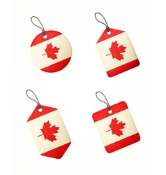 Flag canada labels vector